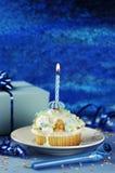 Geburtstags-Muffin Lizenzfreie Stockfotos