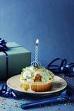Geburtstags-Muffin Lizenzfreies Stockbild