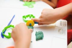 Geburtstags- oder Babypartydekordatumskasten Lizenzfreie Stockfotos