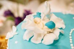 Geburtstags- oder Babypartydekordatumskasten Lizenzfreies Stockbild