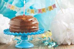 Geburtstags-Schokoladen-Kuchen Lizenzfreie Stockfotografie