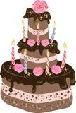 Geburtstags-Schokoladen-Kuchen Stockfoto