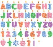 Geburtstags-und Feier-brennende Kerzen Lizenzfreies Stockfoto