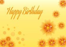 Geburtstagsblumenkarte Stockfoto