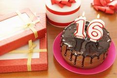 Geburtstagsfeier bei sechzehn Jahren lizenzfreies stockfoto