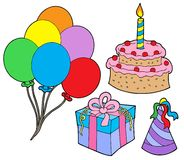 Geburtstagsfeieransammlung vektor abbildung