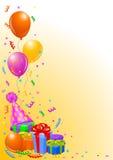 Geburtstagsfeierhintergrund Lizenzfreies Stockbild