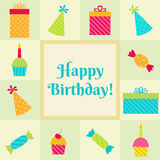 Geburtstagsfeierkarte Stockfotos
