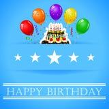 Geburtstagshintergrund mit Ballon Stockfoto