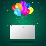 Geburtstagshintergrund mit Ballonen Stockbild