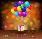 Geburtstagshintergrund mit Ballonen Lizenzfreie Stockfotografie