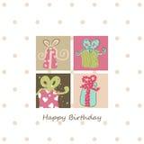 Geburtstagskarte lizenzfreie abbildung