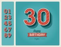 Geburtstagskarte   Lizenzfreie Stockbilder