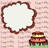 Geburtstagskarte Stockbild