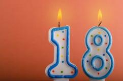 Geburtstagskerzen Lizenzfreies Stockfoto