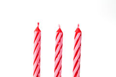 Geburtstagskerzen Stockbild