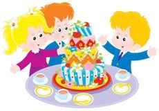 Geburtstagskuchen lizenzfreie abbildung