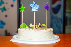 Geburtstagskuchen acht Jahre Stockfoto