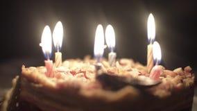 Geburtstagskuchen der Kinder stock video