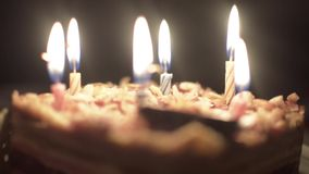 Geburtstagskuchen der Kinder stock video footage