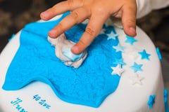 Geburtstagskuchen für Baby stockbild