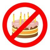 Geburtstagskuchen, wenn Zeichen verboten werden vektor abbildung