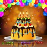 Geburtstagskuchenhintergrund Stockfoto