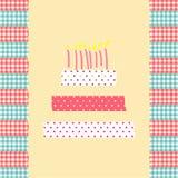 Geburtstagskuchenkarte Stockfoto