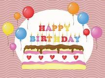 Geburtstagskuchenkarte Lizenzfreies Stockfoto