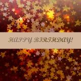 Geburtstagszusammenfassungsstern-Hintergrundkarte Stockbild