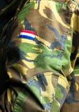 Gecamoufleerde kleding Royalty-vrije Stock Foto's