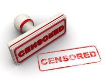 gecensureerd Verbinding en afdruk vector illustratie