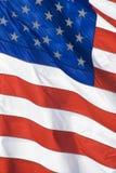 Gecentreerde Amerikaanse Vlag Stock Afbeeldingen