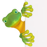 Gecko with a blank sign Royalty Free Stock Images