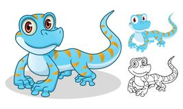 Gecko Cartoon Character Mascot Design royalty free stock photography