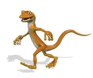 Gecko dans une hâte illustration de vecteur