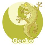 Gecko de bande dessinée d'ABC Photographie stock