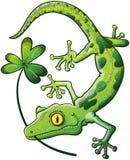 Gecko de jour de St Paddys Image stock