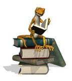 Gecko de la lectura Fotografía de archivo libre de regalías