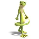 Gecko divertido de Toon stock de ilustración