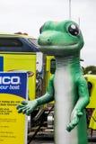 Gecko figure representing Geico insurance Stock Photos