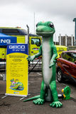 Gecko figure representing Geico insurance Royalty Free Stock Image