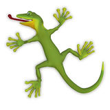 Gecko lizzard 3d Royalty Free Stock Images