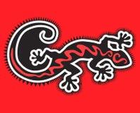 Gecko negro Imagen de archivo libre de regalías