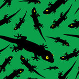 Gecko pattern eps10. Green and black gecko pattern eps10 Vector Illustration