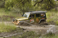 Gecko Pearl Green Jeep Wrangler Rubicon Stock Photo