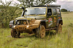 Gecko Pearl Green Jeep Wrangler Rubicon Stock Image