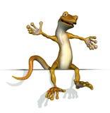 Gecko que se sienta en un borde stock de ilustración