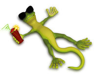 Gecko relaxing in the sun Stock Image