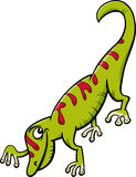 Gecko reptile cartoon illustration Royalty Free Stock Image